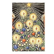 Vintage Christmas Tree Postcards (Package of 8)