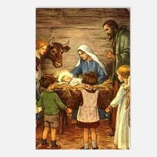 Vintage Christmas Nativity Postcards (Package of 8