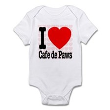 I Love Cafe de Paws Infant Bodysuit