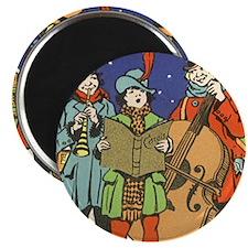 "Vintage Christmas Musicians 2.25"" Magnet (10 pack)"