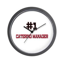 Number 1 CATERING MANAGER Wall Clock