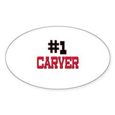 Number 1 CARVER Oval Decal