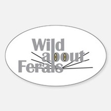 Wild about Feral Cats Oval Decal