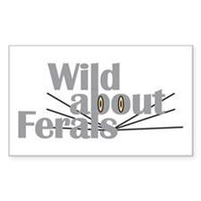 Wild about Feral Cats Rectangle Decal