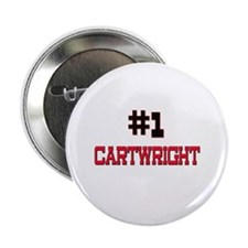 """Number 1 CARTWRIGHT 2.25"""" Button"""