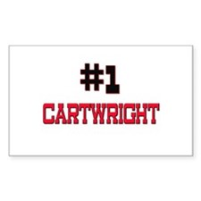 Number 1 CARTWRIGHT Rectangle Decal