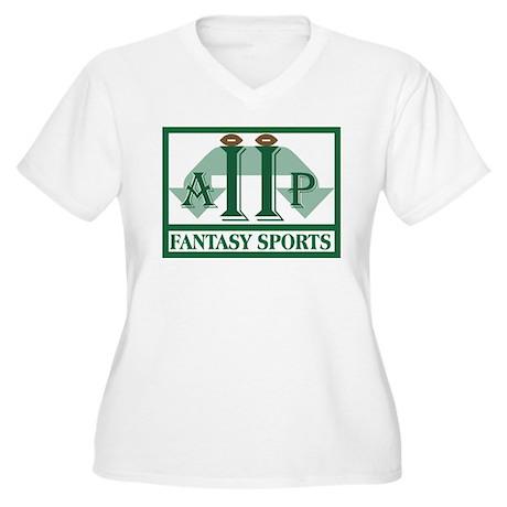 League Logo Women's Plus Size V-Neck T-Shirt