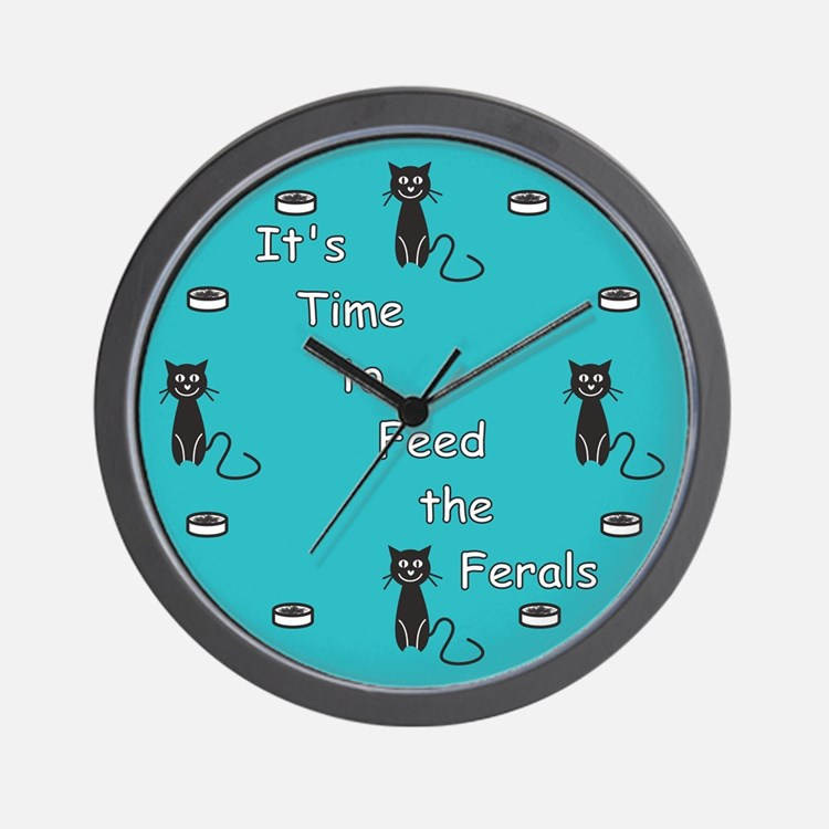 Feral Time Wall Clock