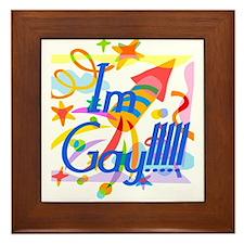 I'm Gay!!! Framed Tile