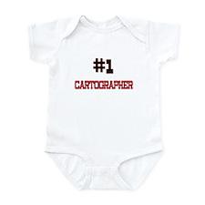 Number 1 CARTOGRAPHER Infant Bodysuit