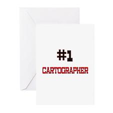 Number 1 CARTOGRAPHER Greeting Cards (Pk of 10)