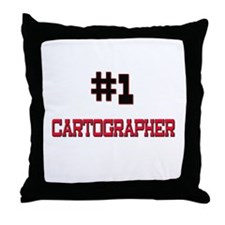Number 1 CARTOGRAPHER Throw Pillow