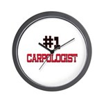 Number 1 CARPOLOGIST Wall Clock