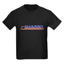 'Palmer' Name Train Kids Black T-Shirt
