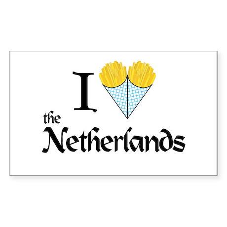 I Love NL Rectangle Sticker