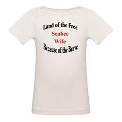 Land of the Free Seabee Wife Tee