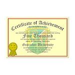 Certificate of Achievement - 5000 - PERSONALIZABLE