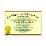 Certificate of Achievement - 4000 - PERSONALIZABLE