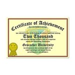 Certificate of Achievement - 2000 - PERSONALIZABLE