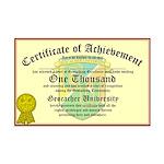 Certificate of Achievement - 1000 - PERSONALIZABLE