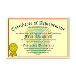 Certificate of Achievement - 500 - PERSONALIZABLE