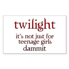 twilight, Not Just for Teenag Rectangle Decal