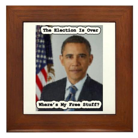 Barack Obama Free Stuff Framed Tile