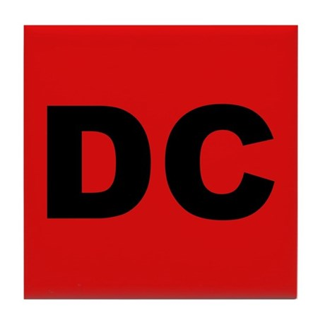 Red DC Tile Coaster