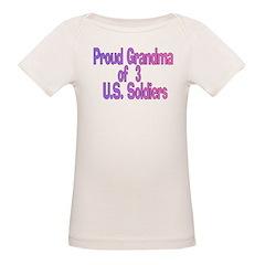 Proud Grandma of 3 US soldier Tee