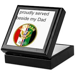 Proudly Served Dad Keepsake Box