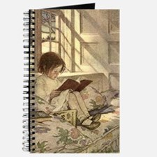 Vintage Books in Winter, Child Reading Journal