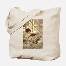 Vintage Books in Winter, Child Reading Tote Bag