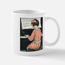 Vintage Child Playing the Piano Mug