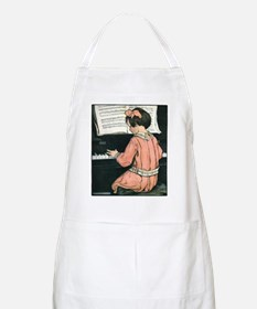 Vintage Child Playing the Piano Apron
