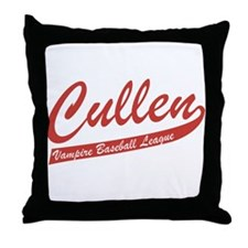 Cullen Vampire Baseball Throw Pillow