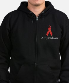 Amyloidosis Awareness Ribbon Zip Hoodie