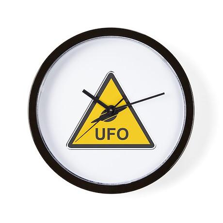 UFO Crossing Wall Clock