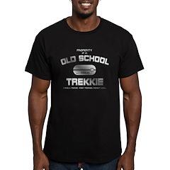 White Print - Old School Trek T