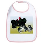 Black Cochin Family Bib