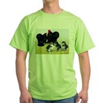 Black Cochin Family Green T-Shirt