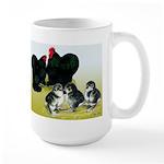 Black Cochin Family Large Mug