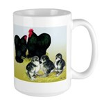 Black Cochin Family Large Mug