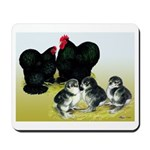 Black Cochin Family Mousepad