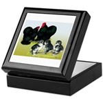 Black Cochin Family Keepsake Box
