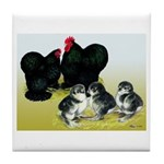 Black Cochin Family Tile Coaster