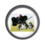 Black Cochin Family Wall Clock