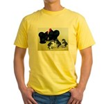 Black Cochin Family Yellow T-Shirt