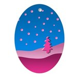 Little Pink Tree Oval Ornament