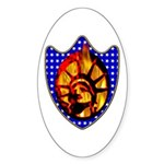 Liberty Endures Oval Sticker (50 pk)