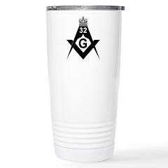 32nd degree in Black and White Travel Mug